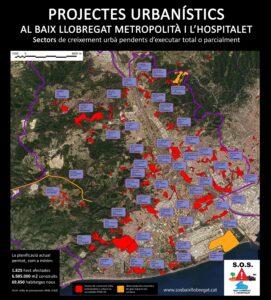 Projectes urbanístics al Baix llobregat i l'Hospitalet